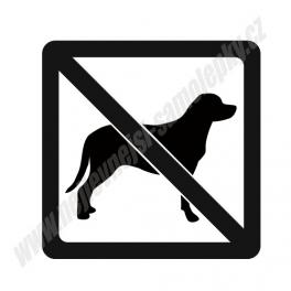 Samolepka Zákaz vstupu se psy