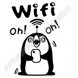 Samolepka Wifi Oh