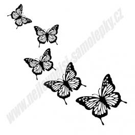 Samolepky  Motýli (sada)