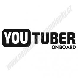Samolepka Youtuber on board