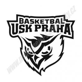 Samolepka USK Praha Baskeball