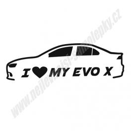 Samolepka I Love my EVO X