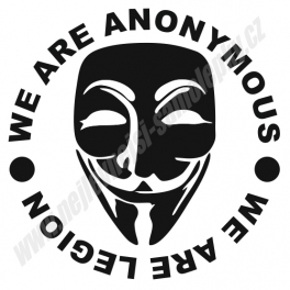 Samolepka We Are ANONYMOUS