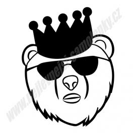 Samolepka JDM Bear King