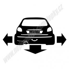 Samolepka Peugeot 206 Low