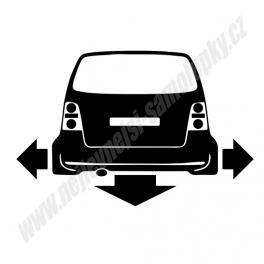 Samolepka VW Touran