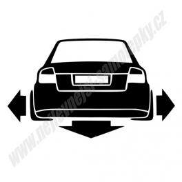 Samolepka Audi A4 B6