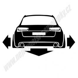 Samolepka Audi A6 C7
