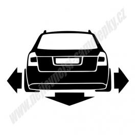 Samolepka Audi A4 B6 Avant