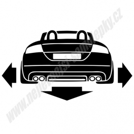 Samolepka Audi TT cabrio