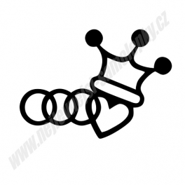 Samolepka Audi King