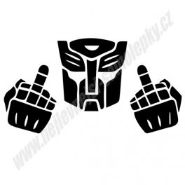 Samolepka Transformers Fuck