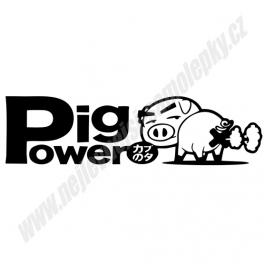 Samolepka Pig Power