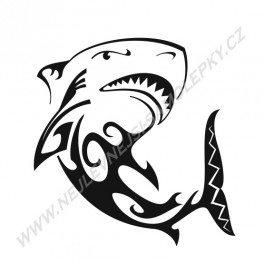 Samolepka Tribal Žralok