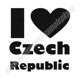 Samolepka I Love Czech Republic