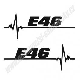 Samolepka E46 ekg