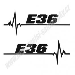 Samolepka E36 ekg