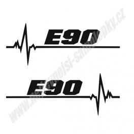 Samolepka E90 ekg