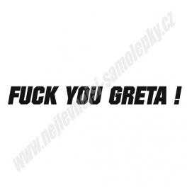 Samolepka Fuck you GRETA