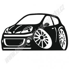 Samolepka Renault Clio karikatura