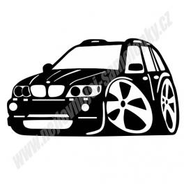 Samolepka BMW X5 karikatura