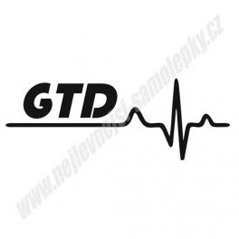 Samolepka GTD Ekg