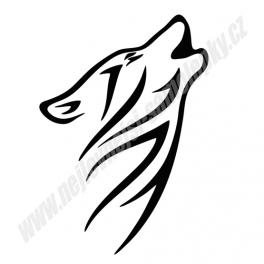 Samolepka Tribal Vlk