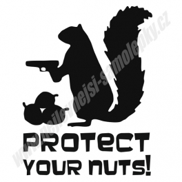 Samolepka Protect your Nuts