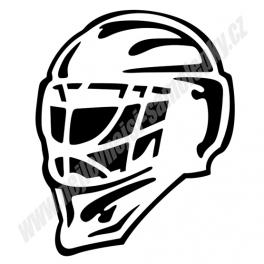 Samolepka Hokejová maska