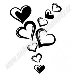Samolepky Srdce (sada)