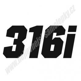 Samolepka BMW 316i