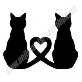 Samolepka Love Cat