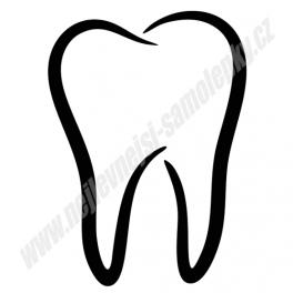 Samolepka Zub