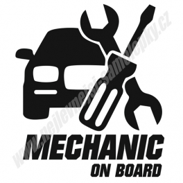 Samolepka Mechanic on board
