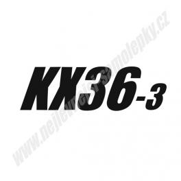 Samolepka Kubota KX36-3