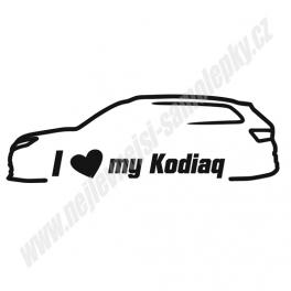 Samolepka I Love my Kodiaq