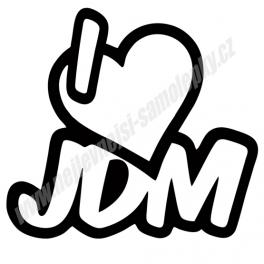 Samolepka I Love JDM