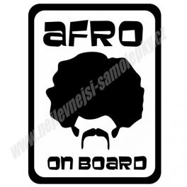 Samolepka Afro on Board