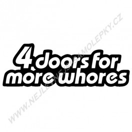 Samolepka 4Doors for more whores