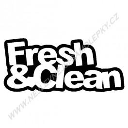 Samolepka Fresh & Clean