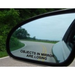 Samolepka Object in mirror are losing