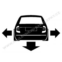 Samolepka Škoda Fabia Low