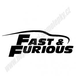 Samolepka Fast and Furious