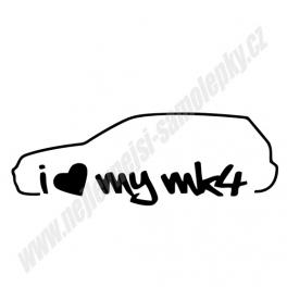 Samolepka I love my MK4