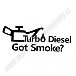 Samolepka Turbo diesel - Got smoke?