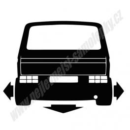 Samolepka VW Transporter T3 Low