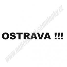 Samolepka Ostrava !!!