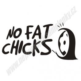 Samolepka No fat Chicks Wheel