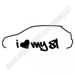 Samolepka I Love my Audi A3