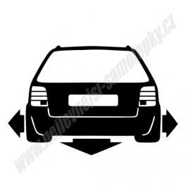 Samolepka VW Passat B5 Low